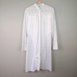 White Broderie Anglaise Shirt Dress Anyango Mpinga